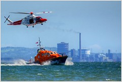Coast Guard Rescue and Mumbles Lifeboat (neilholman) Tags: coast guard rescue mumbles lifeboat