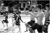 Untitled (Steve Lundqvist) Tags: innocence boys playing cheerleader joking impression doing joke play band banda parade girls nikon italy street streetphotography imitazione italians youth age festival carnaval pompomgirl defiler majorette fun funny