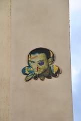 Gzup (emilyD98) Tags: street art paris insolite rue mur wall collage pieuvre gzup dessin artiste urban exploration city ville graffiti installation