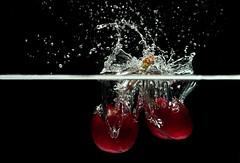 Cherry splash (Sublime Visuals) Tags: water cherry cherries fruit highspeed splash waterdrops cannon studio stilllife 18503556 creative food