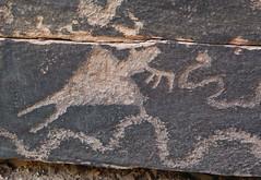 Petroglyphs / Mill Creek Canyon (Ron Wolf) Tags: anthropology archaeology fremont moab nativeamerican anthromorph anthropomorph headdress petroglyph rockart snake zoomorph utah