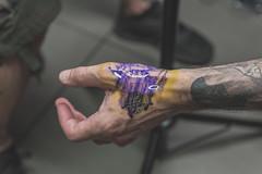 Elevated - June 13, 2017 (Katherine Ridgley) Tags: toronto tattoo tattooartist art artist tattooing tattooed ink inked visitingartist mrscriptkeeper handtattoo script freehand calligraphy