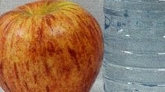 "Photo Series: Food Photograph: ""A Royal Gala apple"" (Ken Whytock) Tags: food apple royalgala galaapple waterbottle bottle water"