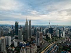 Cloudy Morning at Kuala Lumpur (HakiimMislam) Tags: drone aerial djiphantom3advanced dji djiphantom kualalumpur morning cloudy sky city cityscape buidling skyline tower skyscraper