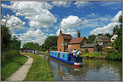 Melody Too (Jason 87030) Tags: nice scene water reflection cut canal guc grandunioncanal boat narrowboat melody blue sky clouds weather braunston crookedcottage northants northamptonshire color colour das boot craft vessel july summer alpha a6000 ilce nex lens tag flickr towpath lock 2