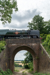 Looking South (VehicularBrit) Tags: mid hants railway watercress line alton alresford medstead four marks ropley steam train engine loco locomotive british rail southern region fire smoke heritage classis preserved preservation historic bulleid pacific express 35006 po merchant navy