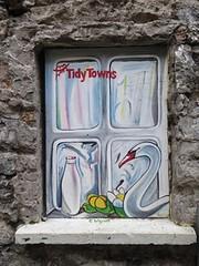 Graff in Galway - Tidy Towns (brigraff) Tags: streetart painting drawing galway irlande ireland tidytowns tidu towns brigraff cygne lait milk