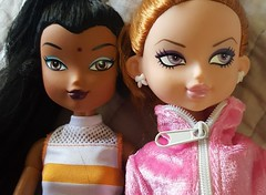 Two cuties get new bodies and outfits, now they just need hairdos (The Dollhouse of Usher) Tags: redhead india packs barbiefashion we wee wilco dolls girlz zodiac teens doll