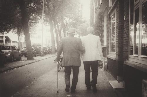 Two men - retro style