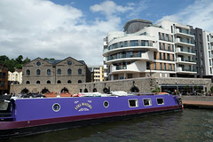 Still Waters (weirdoldhattie) Tags: bristol docks harbour harbourside water boat canalboat apatments housing