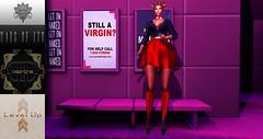 LEVEL UP EVENT (Suzie Coba Esquire) Tags: levelupevent platform heels hausofito hoi apollonia moda emma desmonia buns collabor88 hair dress earrings choker minimal background nails secondlife