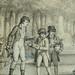 MONNET Charles - La Promenade (drawing, dessin, disegno-Louvre RF34443) - Detail 25