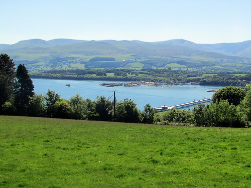The Menai Strait and Bangor Pier