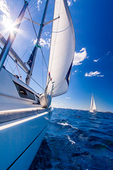 Sailing in Adriatic (Wolfhowl) Tags: wind fenders sailing croatia sea clouds blue adriatic waves fender bbyachting travel sails genoa yachting sky seascape speed europe boats yacht