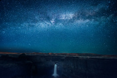 The Milky Way over Palouse Falls, Palouse Falls State Park, Washington State (diana_robinson) Tags: milkyway palousefalls palousefallsstatepark washingtonstate stars nightphotography waterfall nightsky nikonflickraward