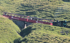 Brienz Rothorn Bahn, Switzerland - No. 12 built by SLM in 1992 forms the first section of the 10.45 from Brienz above Planalp on the 13th September 2016 (trained_4_life) Tags: brb switzerland brienzrothornbahn berneroberland berneseoberland steamlocomotive racklocomotive