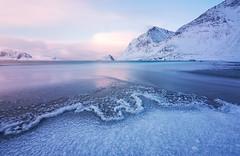 silence (felixindenvisuals) Tags: lofoten norway haukland sunrise landscape nature soft pastel winter ice frozen snow beach seascape waterscape tourism felixinden lucroit gitzo