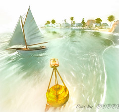Baja Bay (Poppys_Second_Life) Tags: popi popikone popikonesadventuresin2l popisadventuresin2l 2l secondlife virtualphotography poppy picsbyⓟⓞⓟⓟⓨ sl bajanorte boat sailing yacht