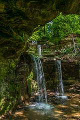 Dappled light on the falls (FJMaiers) Tags: waterfall blueearth triplefalls minnesota limestone