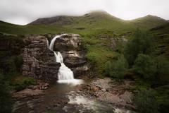Waterfall, Glencoe (kateburgoynephotography) Tags: glencoe waterfall scottish highlands green slow shutter slowscape water stones clouds canon eos grass rocks gorge
