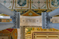 Library of Congress (Blinking Charlie) Tags: libraryofcongress thomasjeffersonbuilding ceiling mosaics lookingup sonydscrx100m3 washingtondc usa 2017 blinkingcharlie interior arch columns capitals