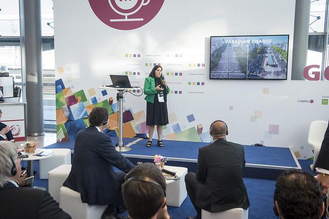 Maria M. Lopez Menendez presenting