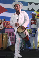 Conga Los Hoyos (2017) 03 (KM's Live Music shots) Tags: worldmusic cuba congasantiaguera congaloshoyos bocu drums neworleansjazzheritagefestival culturalexchangepavilion fairgroundsracecourseneworleans
