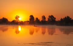 Sunrise (Mirek Pruchnicki) Tags: sunrise morning light angler mirek pruchnicki radymno województwopodkarpackie polska boat sun lake scenery