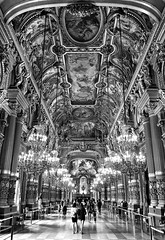 L'Opera (Box of Badgers) Tags: europe paris france opera palaisgarnier mirrors bw blackandwhite blackwhite