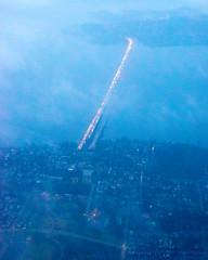 Morning I-90 Bridge From the Air (AvgeekJoe) Tags: aerialphotograph d5300 dslr i90floatingbridge lakewashington nikon nikond5300 seattle usa washingtonstate aerial aerialphoto aerialphotography cloud floatingbridge
