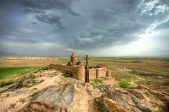 Khor Virap (Vincent Rowell) Tags: raw tonemapped monastery church clouds khorvirap armenia sigma816mm southcaucasus2017 photoshopped
