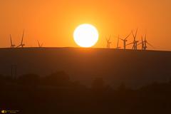 Last light (technodean2000) Tags: sunset wind farm over mountain nikon d610 lightroom uk