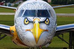 """Embraer E-195-E2 (ERJ 190-400 STD) """"Profit Hunter"""" PR-ZIJ (Manuel Negrerie) Tags: przij embraer e195e2 erj e190400 e2 livery spotting lbg eagle design paris airshow scheme plane aircraft airplane"""