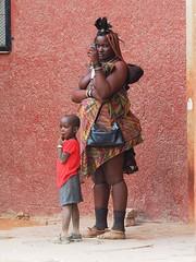 Namibia - Himba woman (sharko333) Tags: travel voyage reise africa afrika afrique namibia kaokoveld kaokofeld people portrait himba woman child olympus em1