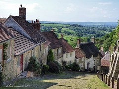Gold Hill (Explore) (Belinda Fewings (3 million views. Thank You)) Tags: lovebritain love britain buildingsandarchitecture architecture buildings landscape south beautifulengland england oldentimes road path flowers thatch windows doors backintime old beautiful june2017 tourism travel inspireaholidayortrip green grey summer summertime panasoniclumixdmc belindafewings cobbles iconic cottages steep hill dorset shaftesbury goldhill june explore inexplore