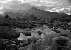 Unter Surettasee, Teurihorn by miloniro - Location: Splügen, Area: Switzerland, Date: 07.07.2017,  Chamonix 057-N1 Fujinon W 150mm f/5.6 Lens, Kodak T-Max 400, XTol