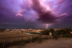 Lightstorm over the city (raulmiguelmantilla) Tags: lighting lightstorm sky
