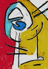 Bambin (Zntt) Tags: art oil oiloncanvas canvas oilpastel pastel modern contemporany colors hardcolors arte oleo pintura painting drawing breaking rules nopattern modernart beaty nice yellow red amarelo vermelho gialo rosso bello pittura