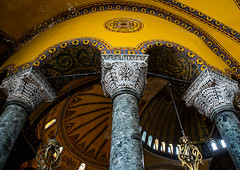 Pillars and arches inside Hagia Sophia, Sultanahmet, istanbul, Turkey (Eric Lafforgue) Tags: ancient arches architectural architecture art ayasofya byzantine byzantium cathedral christianity church constantinople decor hagia hagiasophia heritage historic holy horizontal indoors interior islam istambul istanbul landmark mosque museum nopeople old ornate orthodox ottoman pillars religion religious roman saintsophia sofia sofya sophia sultanahmet tourism travel turkey turkey1106 unescoworldheritagesite