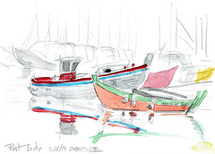 Lorient USK 2017, samedi, sur l'île de Groix, Port Tudy avant de revenir vers Lorient (Croctoo) Tags: croctoo croquis croctoofr usk lorient groix ile de port bateau bateaux