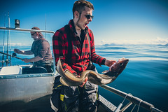 Fishing offshore Norway (jarnasen) Tags: fujifilmxm1 fuji fishing långa fish ling molvamolva norway norge fiske angeln sea ocean banks copyright järnåsen jarnasen boat meløya bolga geo geotag offshore