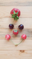 Frutiy Smiley (Jeren N Turoonju) Tags: fruits fruit smile smiley positivity cherry strawbery summer spring creative
