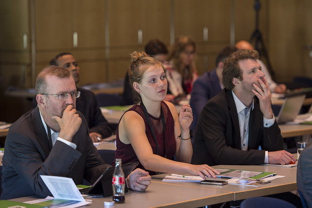 Attendees taking part in the side event