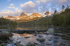 Hell Roaring Lake Sunrise (Aaron Spong Fine Art) Tags: sawtooth stanley hellroaring lake sunrise boise idaho mountains mountain aaronspong reflection morning spring june range wilderness area national recreation camping hiking