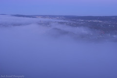 Foggy Morning Downtown 2 (Zach Bonnell) Tags: stjohns newfoundland canada canoneos60d morning signalhill fog yongnuo35mmf2