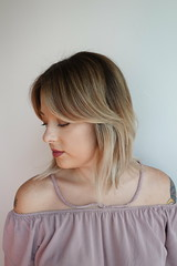 Kaylee freshened up this balayage and fringe