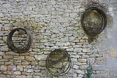 Ironwork (notFlunky) Tags: dordogne france lot wall house gite villa metal iron rims aquitaine holiday south west la vezier sarlat montignac