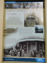 The Bandstand Historic Sign (jimmywayne) Tags: victoria britishcolumbia park beaconhill canada garden bandstand aviary sign
