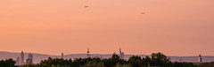 Frankfurt Skyline (Günther Bayerle) Tags: frankfurt skyline plane airport