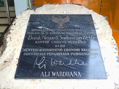 Plakat Gedung BNI Gubernur Suryo Surabaya (Everyone Sinks Starco (using album)) Tags: surabaya jawatimur eastjava monumen monument prasasti